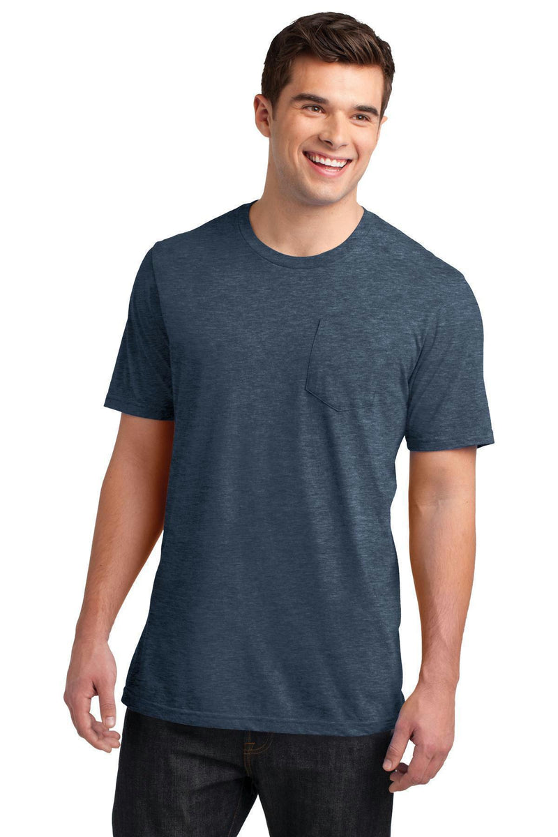 District Young Men's Very Important Tee with Pocket DT6000P-T-shirts-Heathered Navy-4XL-JadeMoghul Inc.