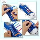 DJ-S2788 New Design Fashion Lazy Elastic Shoelaces Unisex Elastic Shoelace T-tie Creative Lazy Silicone Laces No Tie Rubber-Black-JadeMoghul Inc.
