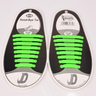 DJ-S2788 New Design Fashion Lazy Elastic Shoelaces Unisex Elastic Shoelace T-tie Creative Lazy Silicone Laces No Tie Rubber-Green-JadeMoghul Inc.