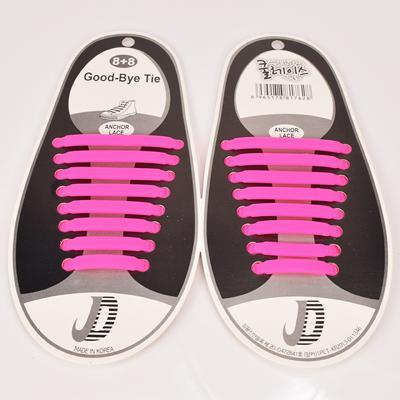 DJ-S2788 New Design Fashion Lazy Elastic Shoelaces Unisex Elastic Shoelace T-tie Creative Lazy Silicone Laces No Tie Rubber-Pink-JadeMoghul Inc.