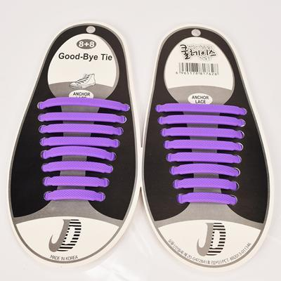 DJ-S2788 New Design Fashion Lazy Elastic Shoelaces Unisex Elastic Shoelace T-tie Creative Lazy Silicone Laces No Tie Rubber-Purple-JadeMoghul Inc.