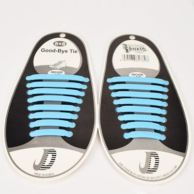 DJ-S2788 New Design Fashion Lazy Elastic Shoelaces Unisex Elastic Shoelace T-tie Creative Lazy Silicone Laces No Tie Rubber-Sky Blue-JadeMoghul Inc.