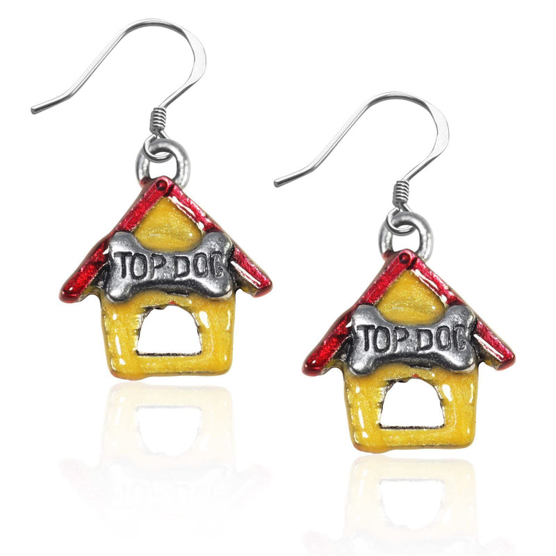 Dog House Charm Earrings in Silver-Charm-JadeMoghul Inc.