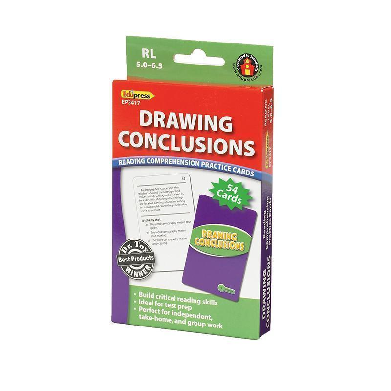 DRAWING CONCLUSIONS CARDS READING-Learning Materials-JadeMoghul Inc.