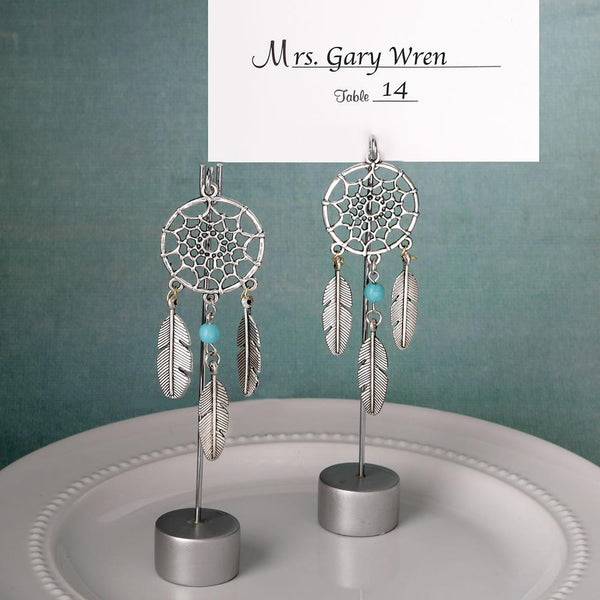 Dream catcher place card holder / Photo holder in southwest / American Indian design-Reception Stationery-JadeMoghul Inc.