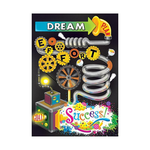 DREAM PLAN SUCCESS ARGUS POSTER-Learning Materials-JadeMoghul Inc.