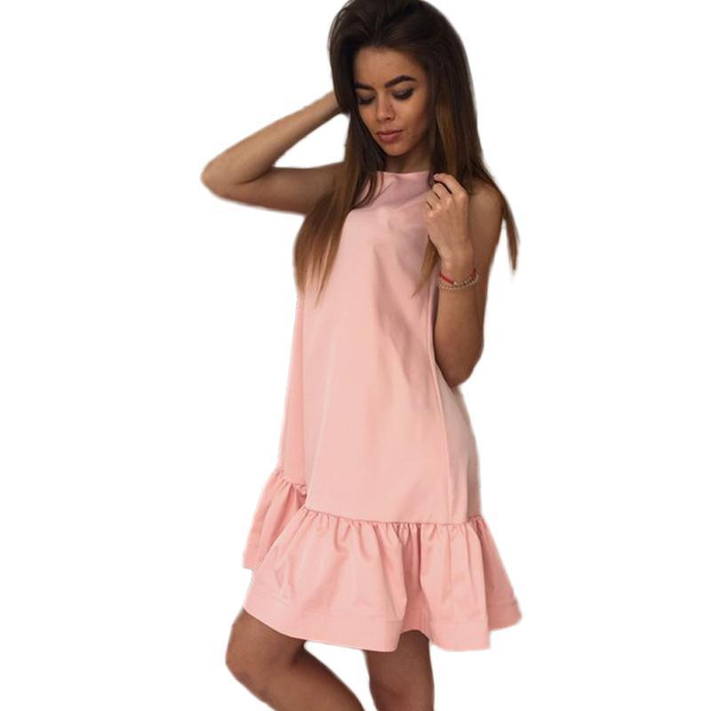 Dresses For Women Summer Sleeveless Casual Cocktail Mini Dress AExp