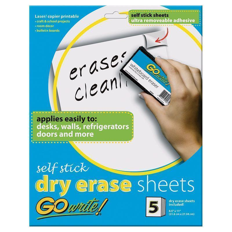DRY ERASE SHEETS SELF STICK 8 1/2-Arts & Crafts-JadeMoghul Inc.
