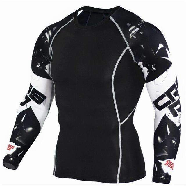 Dry Fit Full Sleeves Fitness Shirts-TC116-Asian Size S-JadeMoghul Inc.