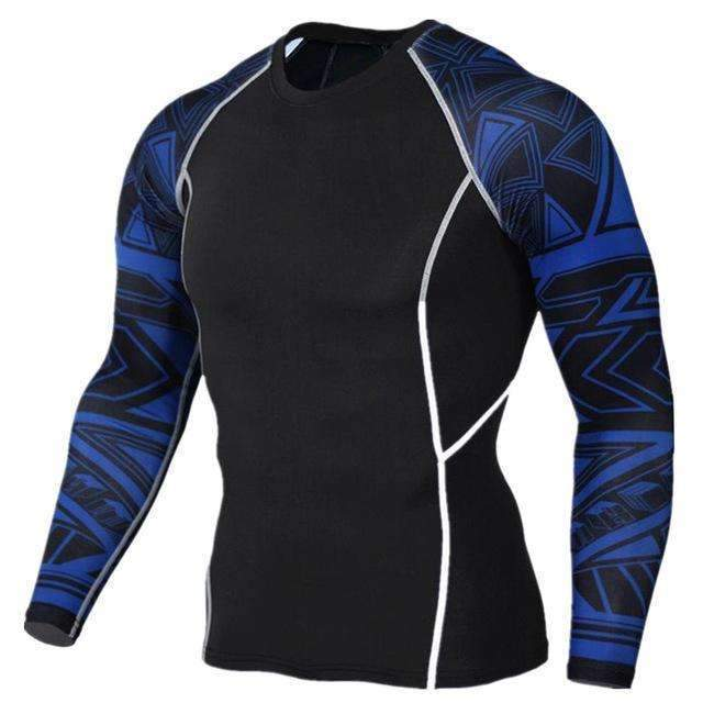 Dry Fit Full Sleeves Fitness Shirts-TC118-Asian Size S-JadeMoghul Inc.
