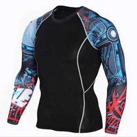 Dry Fit Full Sleeves Fitness Shirts-TC121-Asian Size S-JadeMoghul Inc.
