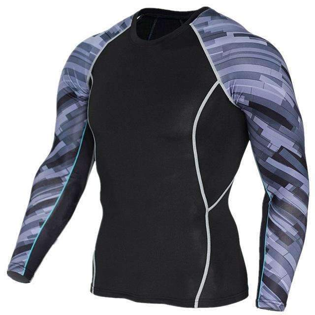 Dry Fit Full Sleeves Fitness Shirts-TC122-Asian Size S-JadeMoghul Inc.