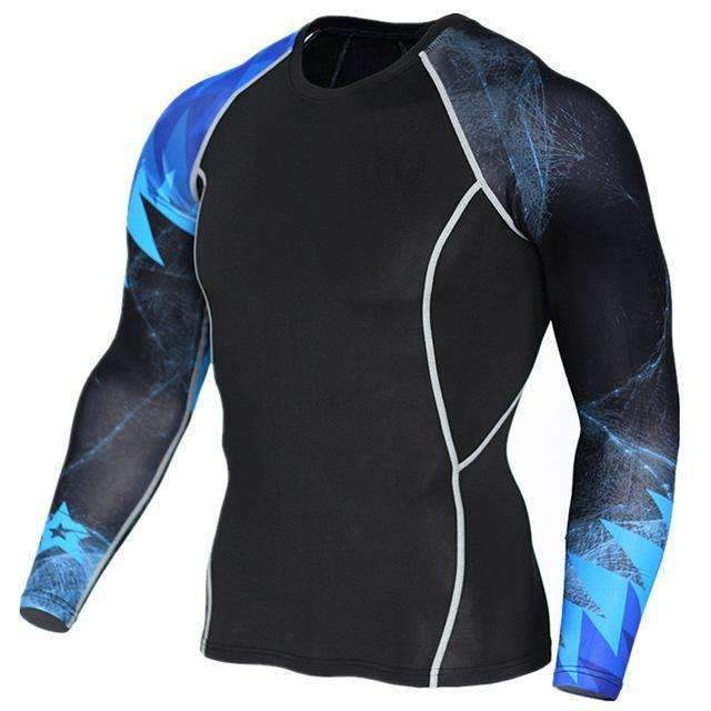 Dry Fit Full Sleeves Fitness Shirts-TC123-Asian Size S-JadeMoghul Inc.