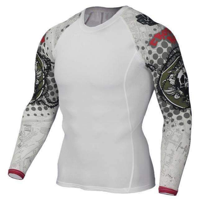 Dry Fit Full Sleeves Fitness Shirts-TC124-Asian Size S-JadeMoghul Inc.