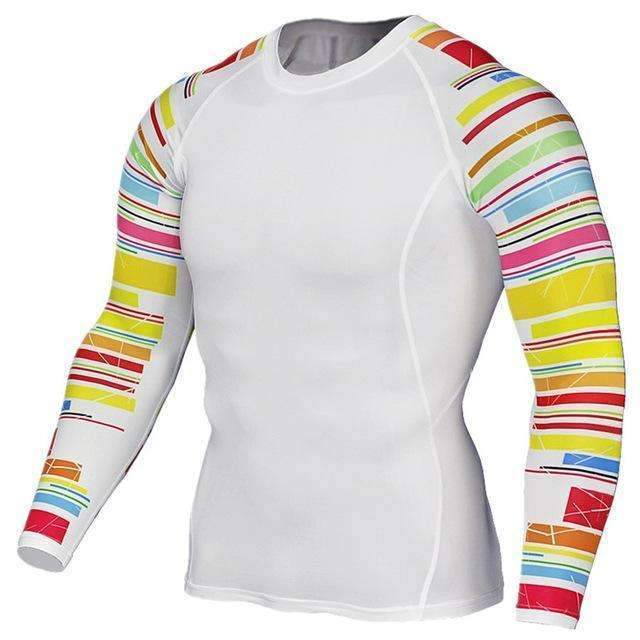 Dry Fit Full Sleeves Fitness Shirts-TC125-Asian Size S-JadeMoghul Inc.