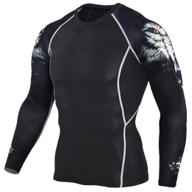 Dry Fit Full Sleeves Fitness Shirts-TC96-Asian Size S-JadeMoghul Inc.