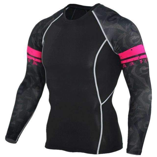 Dry Fit Full Sleeves Fitness Shirts-TC97-Asian Size S-JadeMoghul Inc.