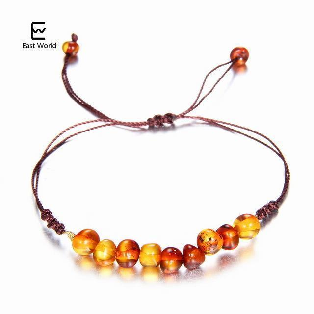 EAST WORLD Baby Adult Amber Bracelet Anklet Best Natural Jewelry Gifts for Women Ladies Girls Handmade Multi Color Strand Bijoux-design 9-adult 16cm with 9cm-JadeMoghul Inc.