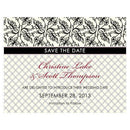 Eclectic Patterns Save The Date Card Vintage Pink (Pack of 1)-Weddingstar-Sea Blue-JadeMoghul Inc.