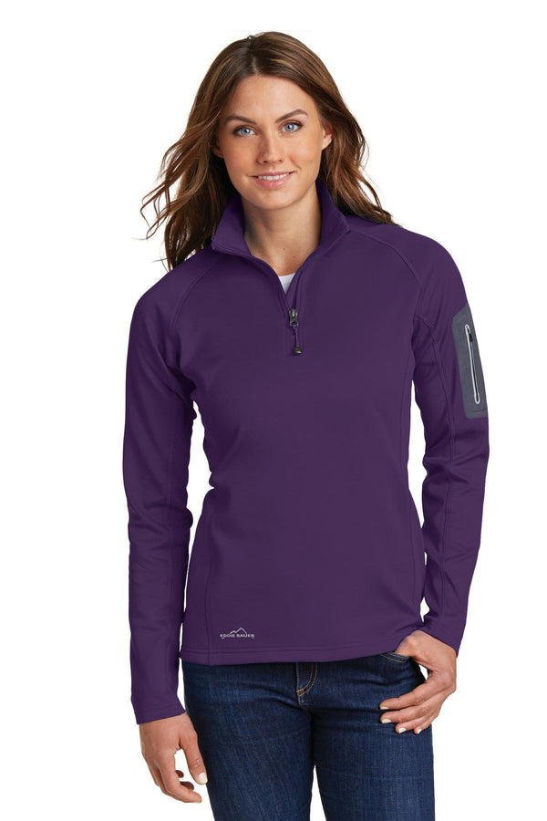 Eddie Bauer Ladies 1/2-Zip Performance Fleece. EB235-Sweatshirts/fleece-Blackberry-4XL-JadeMoghul Inc.