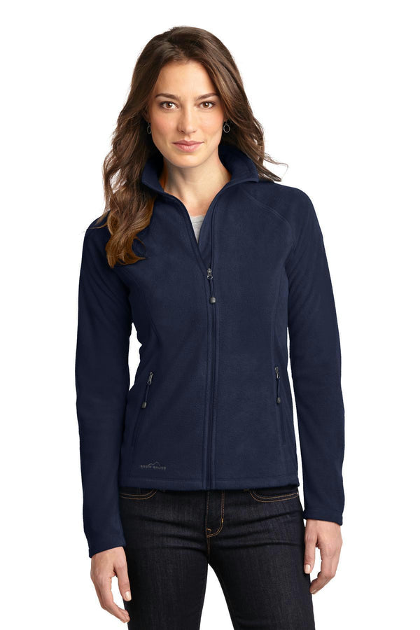 Eddie Bauer Ladies Full-Zip microFleece Jacket. EB225-Ladies-Navy-4XL-JadeMoghul Inc.