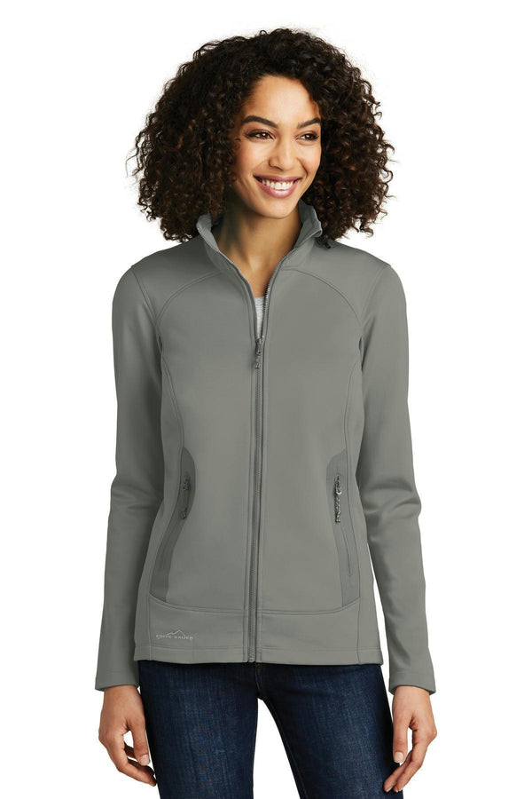 Eddie Bauer Ladies Highpoint Fleece Jacket. EB241-Sweatshirts/Fleece-Metal Grey-4XL-JadeMoghul Inc.