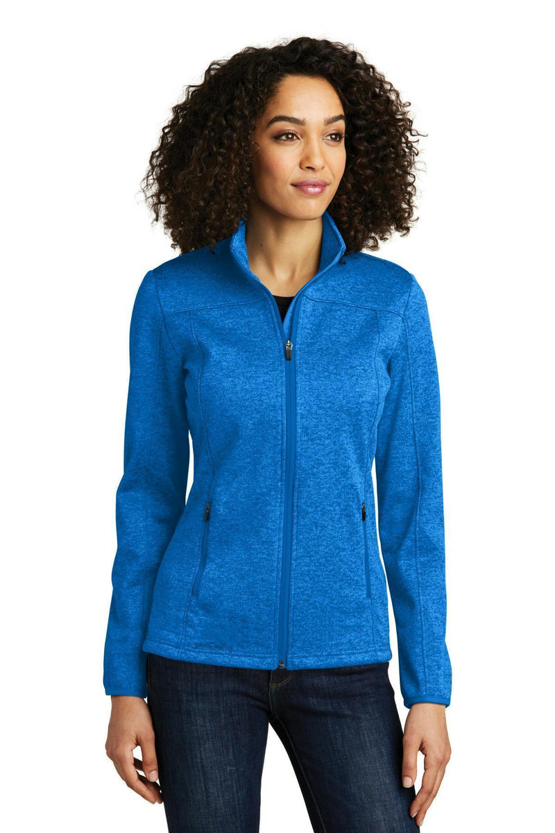 Eddie Bauer Ladies StormRepel Soft Shell Jacket. EB541-Outerwear-Brilliant Blue Heather/ Grey-4XL-JadeMoghul Inc.