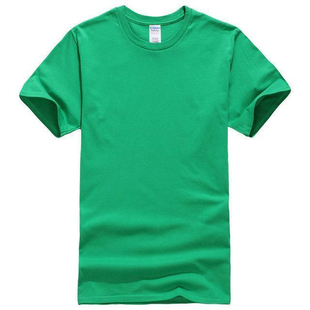 EINAUDI 2017 New Solid Color T Shirt Mens Black And White 100% Cotton T-shirts Summer Skateboard Tee Boy Skate Tshirt Tops ^d64-green-XS-JadeMoghul Inc.