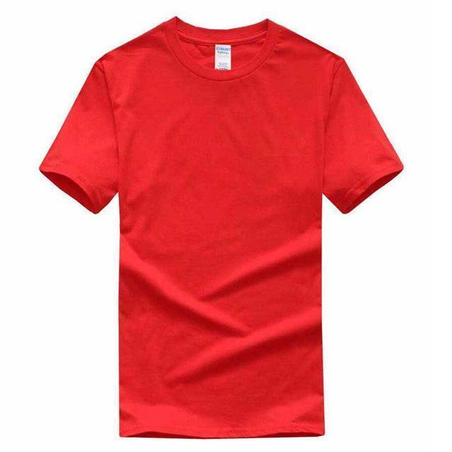 EINAUDI 2017 New Solid Color T Shirt Mens Black And White 100% Cotton T-shirts Summer Skateboard Tee Boy Skate Tshirt Tops ^d64-red-XS-JadeMoghul Inc.
