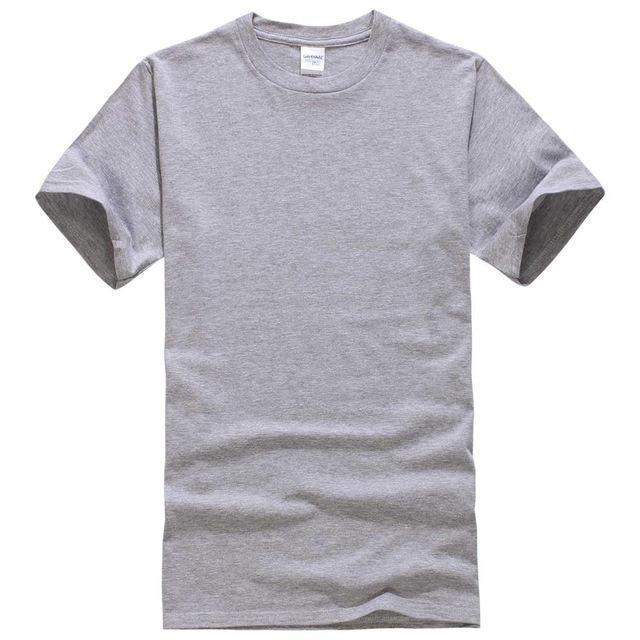 EINAUDI 2017 New Solid color T Shirt Mens Black And White 100% cotton T-shirts Summer Skateboard Tee Boy Skate Tshirt Tops-Light grey-XS-JadeMoghul Inc.
