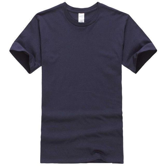 EINAUDI 2017 New Solid color T Shirt Mens Black And White 100% cotton T-shirts Summer Skateboard Tee Boy Skate Tshirt Tops-navy blue-XS-JadeMoghul Inc.