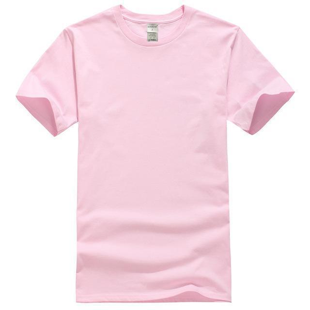 EINAUDI 2017 New Solid color T Shirt Mens Black And White 100% cotton T-shirts Summer Skateboard Tee Boy Skate Tshirt Tops-Pink-XL-JadeMoghul Inc.