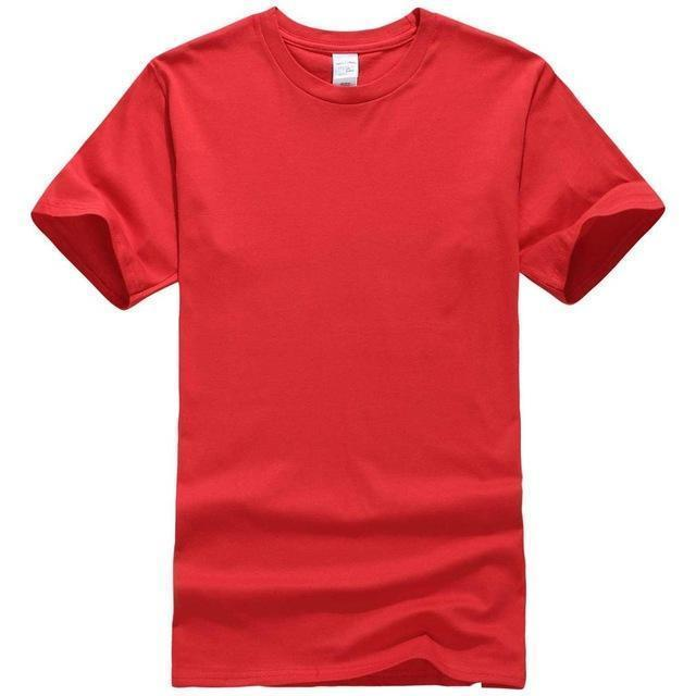 EINAUDI 2017 New Solid color T Shirt Mens Black And White 100% cotton T-shirts Summer Skateboard Tee Boy Skate Tshirt Tops-Red-XS-JadeMoghul Inc.