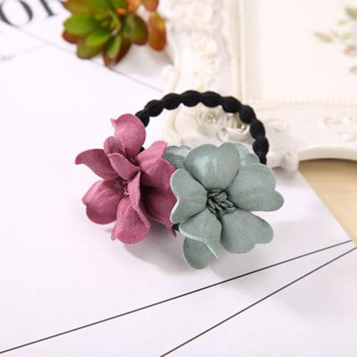 Elastic Hair Ring Flower Hair Rubber bands Rope Cloth Headbands Ties Hair Accessories for Women & Girls-4406-JadeMoghul Inc.