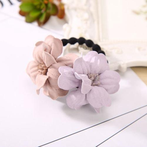 Elastic Hair Ring Flower Hair Rubber bands Rope Cloth Headbands Ties Hair Accessories for Women & Girls-4430-JadeMoghul Inc.