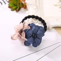 Elastic Hair Ring Flower Hair Rubber bands Rope Cloth Headbands Ties Hair Accessories for Women & Girls-4431-JadeMoghul Inc.