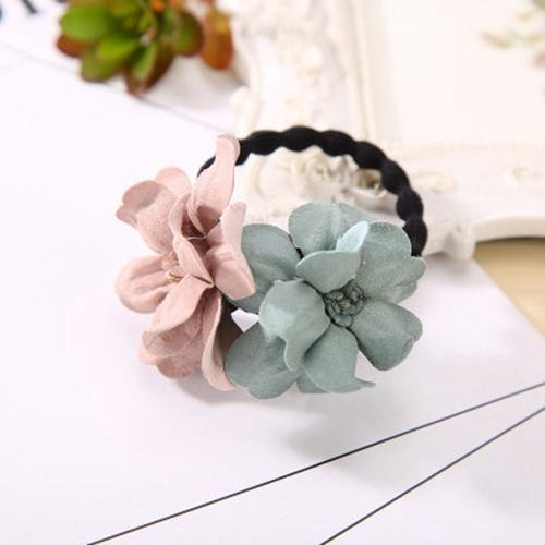 Elastic Hair Ring Flower Hair Rubber bands Rope Cloth Headbands Ties Hair Accessories for Women & Girls-4449-JadeMoghul Inc.