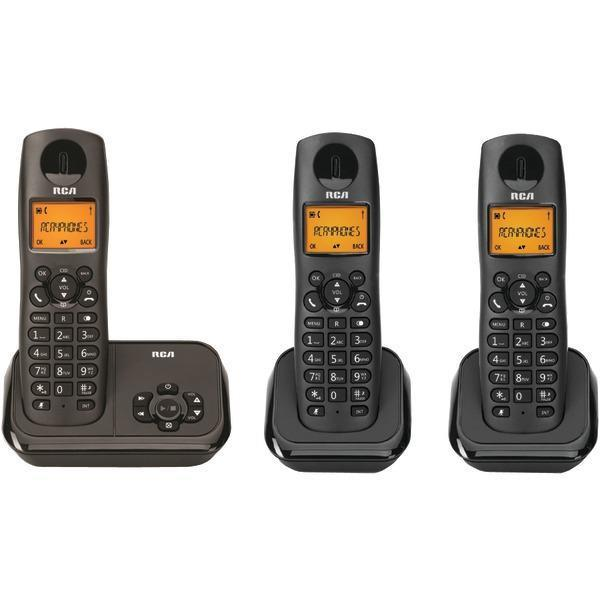 Element Series DECT 6.0 Cordless Phone with Caller ID & Digital Answering System (3-Handset System)-Cordless Phones-JadeMoghul Inc.