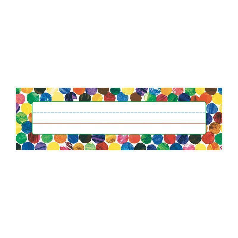 ERIC CARLE DOTS NAME PLATES-Learning Materials-JadeMoghul Inc.