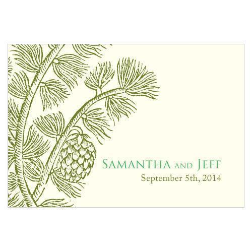 Evergreen Large Rectangular Tag Berry (Pack of 1)-Wedding Favor Stationery-Chocolate Brown-JadeMoghul Inc.