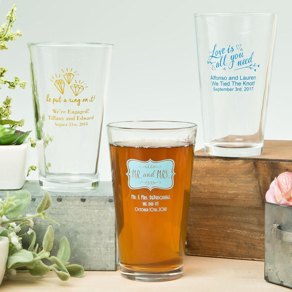 Expressions Collection 16oz pint glasses-Favors By Season-JadeMoghul Inc.