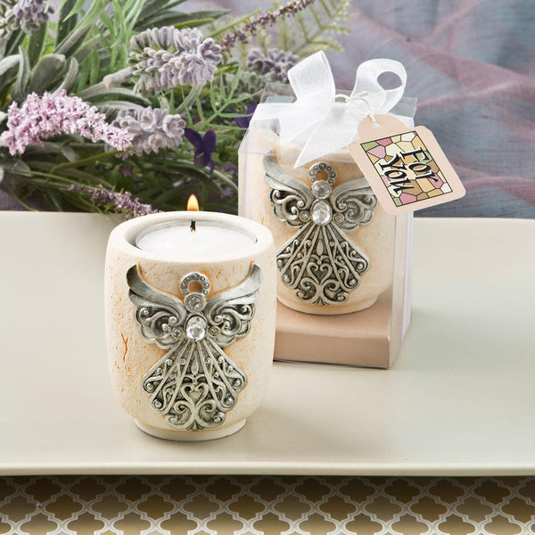 Exquisite angel design candle tea light holder from fashioncraft-Wedding Reception Decorations-JadeMoghul Inc.