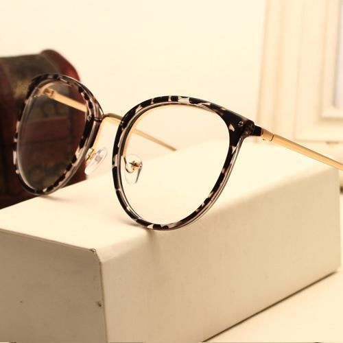 Eyeglasses Eyewear Frame Fashion Black Vintage Metal Optical Frame Reading Glasses Women Eyeglasses Frames New 2017 SojoS Oculos-AM5001C1-China-JadeMoghul Inc.