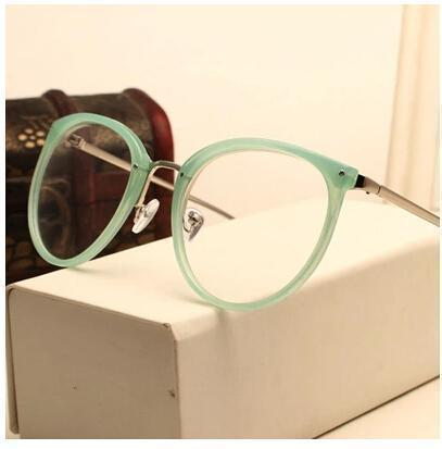 Eyeglasses Eyewear Frame Fashion Black Vintage Metal Optical Frame Reading Glasses Women Eyeglasses Frames New 2017 SojoS Oculos-AM5001C2-China-JadeMoghul Inc.