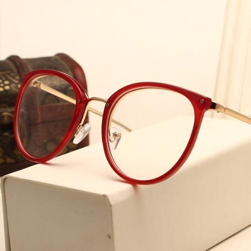 Eyeglasses Eyewear Frame Fashion Black Vintage Metal Optical Frame Reading Glasses Women Eyeglasses Frames New 2017 SojoS Oculos-AM5001C3-China-JadeMoghul Inc.