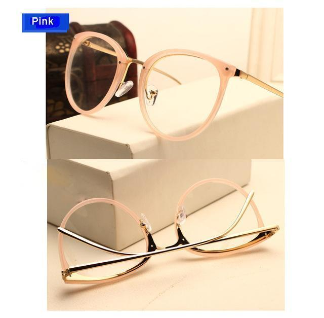 Eyeglasses Eyewear Frame Fashion Black Vintage Metal Optical Frame Reading Glasses Women Eyeglasses Frames New 2017 SojoS Oculos-AM5001C4-China-JadeMoghul Inc.