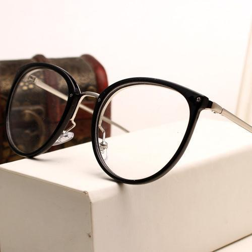 Eyeglasses Eyewear Frame Fashion Black Vintage Metal Optical Frame Reading Glasses Women Eyeglasses Frames New 2017 SojoS Oculos-AM5001C5-China-JadeMoghul Inc.