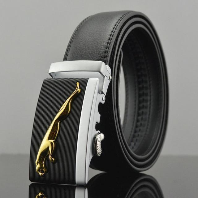Fashion Designers Men Automatic Buckle Leather Luxury Belt-B-110cm-JadeMoghul Inc.