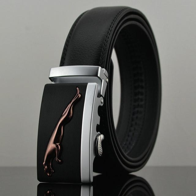 Fashion Designers Men Automatic Buckle Leather Luxury Belt-C-110cm-JadeMoghul Inc.