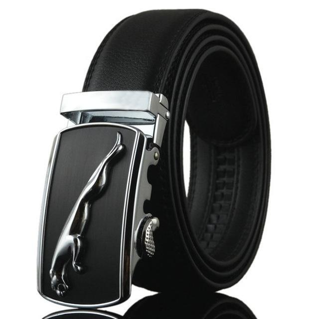 Fashion Designers Men Automatic Buckle Leather Luxury Belt-D-110cm-JadeMoghul Inc.